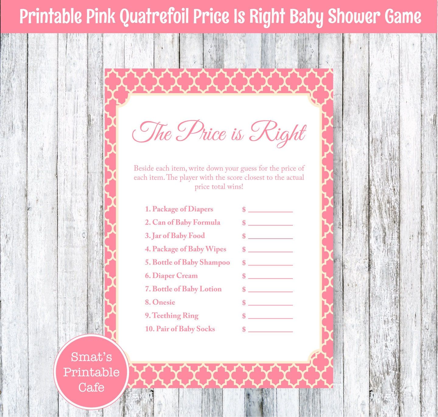 baby price is right pdf