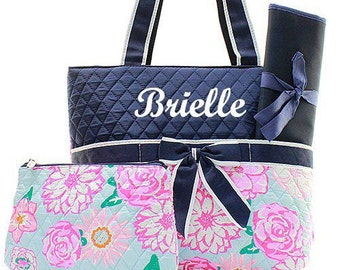 Baby Girl Personalized Diaper Bags | Etsy
