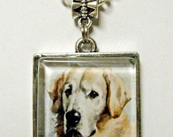 Yellow Labrador Retriever pendant with chain - DAP05-031