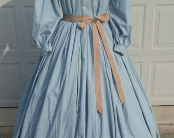 1860's Civil War Day Dress Size Large-READY TO SHIP