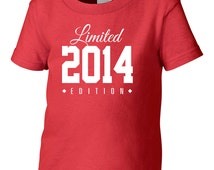 2014 Limited Edition Birthday Toddler Tshirt, Toddler 2nd Birthday Tshirt, Toddler's Birthday Tshirt, Gift for Toddler Birthday TH-2014TsT