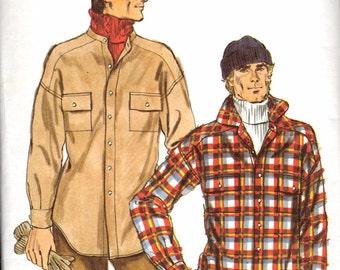 Vintage Men's Shirt Jacket Pattern / Vogue Patterns For Men 9594 / Size 38 / UNCUT