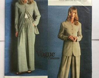 Vogue American Designer  1527,  DNKY trouser suit, Size  8-10-12, Uncut,  Vintage Vogue Sewing Pattern, Uncut,