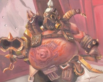 """Overwatch ROADHOG - signed 24X18"""" poster"""