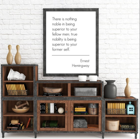 There is nothing noble...8x10 Ernest Hemingway Quote. Typographic, Print. Instant Digital Download. Printable Wall Art - ADOPTION FUNDRAISER