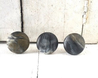 Unique Cabinet Knobs, Dresser Knobs, Cabinet Knobs, Drawer Knobs, Decorative Knobs, Gray Knobs, Black Knob, Stone Knobs,