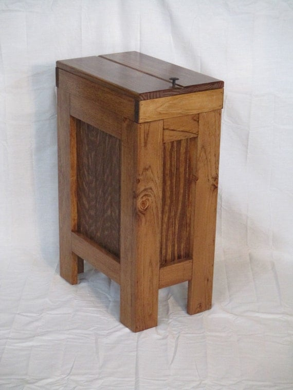 wood wooden trash bin kitchen garbage can 13 by