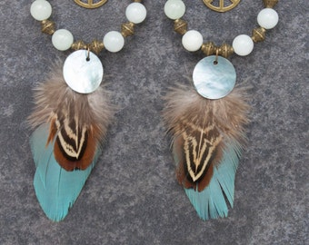 """Creoles feathers """"Lina"""""""