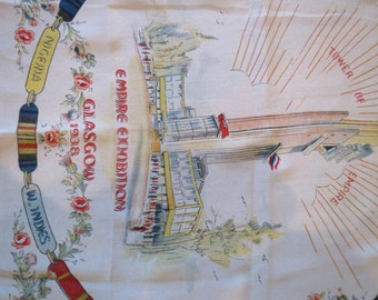 Glasgow 1938- Unusual silk handkerchief