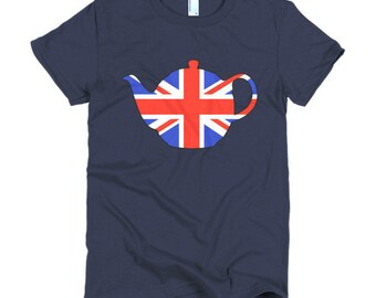 Union Jack Teapot Ladies T-shirt