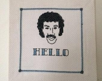 Lionel Richie Cross Stitch