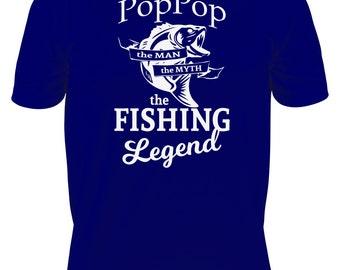 PopPop Shirt - Fishing T-Shirt - Gift for Grandpa - Father's Day Gift - Fisherman Gift - Fishing Legend - Grandfather Gift