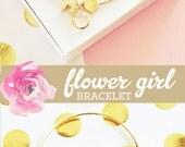 Personalized Flower Girl Bracelet Flower Girl Gift Ideas Jewelry Flower Girl Gift Ideas Child Bracelet (EB3154) Little Girl Bracelet