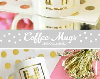 Initial Mug Initial Coffee Mug Monogram Coffee Mug Personalized Coffee Mug Coffee Cup Bridal Party Bridesmaid Coffee Mugs   (EB3141)