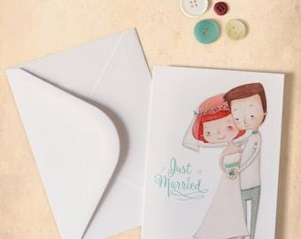 Wedding Card with original illustration