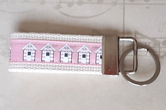 Items Similar To Pink Beach Hut Key Ring Seaside Key Fob Holiday Home Key Chain Student Gift