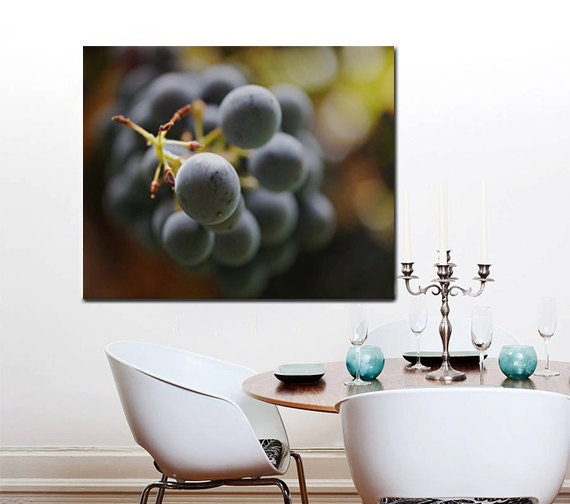 Items Similar To Large Kitchen Decor Grape Vine Art