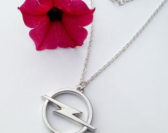 Opel Necklace Pendant Keychain Gift Set