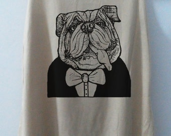 Funny Bulldog Tank Top Shirt Dog Tshirt Animal Shirt tshirt Women Shirt Tank Top Women T-Shirt Tunic Top Vest Size S,M,L