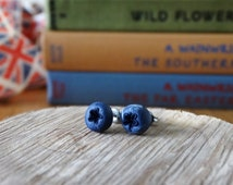 By the Shed Blueberry Earrings - Fruit - Vegetables - Gardening - Gift - Unique Present - Jewellery - Allotment - Bilberry - Pick Your Own
