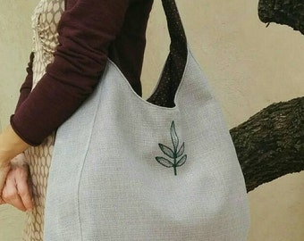 Gray hobo bag ,Large hobo bag , Hobo shoulder bag , Gray tote bag , Over shoulder bag ,Casual Bag, Gray Bag, Weekender , Woman Shoulder Bag