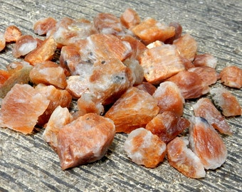 5 pcs Rough Sunstone By 5 Piece  - (RK32B7-01)