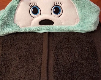 Girl OR Boy Panda Bear Hooded Towel