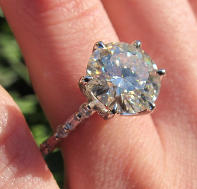 10mm Cathedral Engagement Ring Setting Large Stone Semi