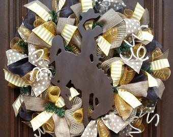 Wyoming Cowboys Wreath, Wyoming Wreath, University of Wyoming