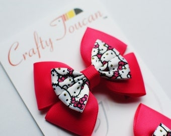 Hot Pink Hello Kitty  Hair Bow for Toddlers/girls