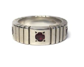 Ruby Wedding Band Ring Sterling Size 8 Richard Tawtel