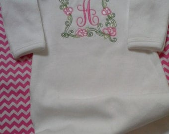 Baby Girl Coming Home Gown a Unique personalized gown for your little one or Shower Gift for mommy to be
