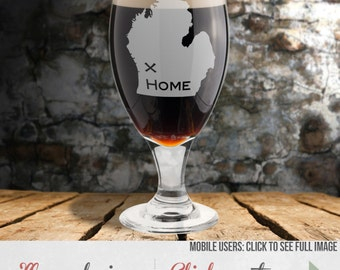 Etched Beer Glass – Custom Stout Glass