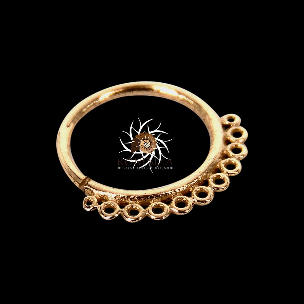 18k gold nose ring 18k gold nose hoop nose jewelry