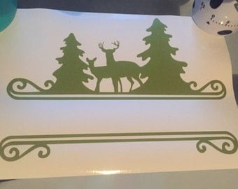 Deer Name Vinyl Cut Out