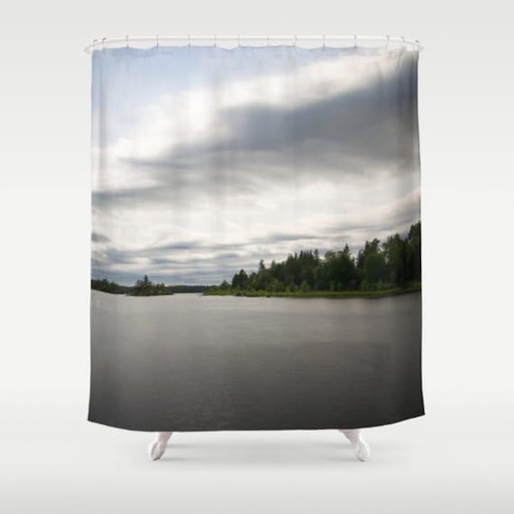 Shower Curtain, Nature Photograph, Minnesota Decor, Boundary Waters, Bathroom Decor, Bath Room Art, Photo Products, Housewarming Gift