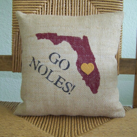 Florida State University Pillow Graduation Gift Seminoles