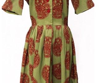 "Vintage 1950's ""L'Aiglon"" Day/Shirt Dress"