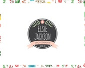 Floral Chalkboard Logo & Blog Header - Web and Print - OOAK option, Limited Edition! Perfect for Photographer, Florist, Boutique + more!