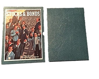 Vintage Stock Market Game, Original Stocks & Bonds by 3M Company Bookshelf Game, Finance Game, Adult Board Game