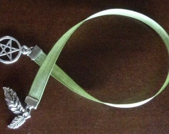 Green Witchcraft Ribbon Bookmark