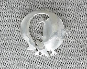 Sugar Glider brooch in sterling silver