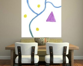large abstract canvas painting minumalist purple blue abstract large painting huge art living room large abstract modern wall art Home decor