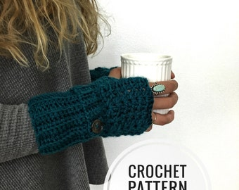 Fingerless Gloves CROCHET PATTERN - Feminine Lacey Fingerless Glove Crochet Pattern - Crochet Gloves - Texting Glove Pattern