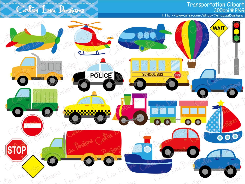 transportation clipart  car  taxi  school bus  police car tow truck vector art vintage tow truck vector