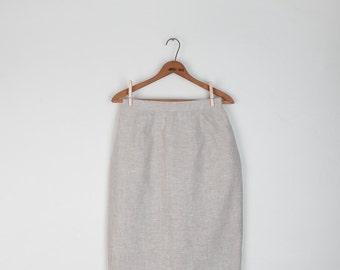 Vintage Natural Linen Pencil Skirt / Harve Benard / Minimalist / S size 6