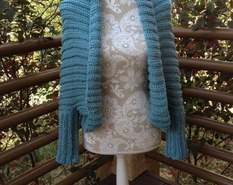 Sweater Shrug - a loom knit pattern