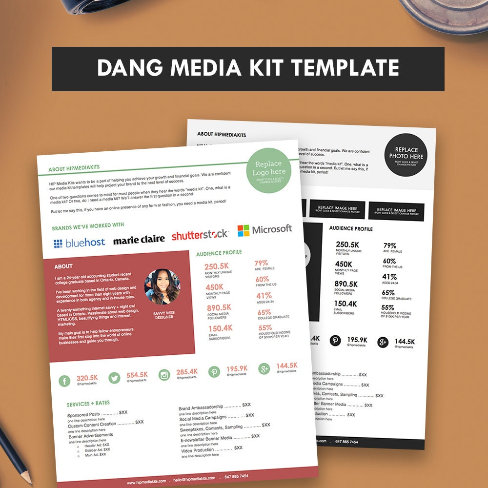 press packet template - press kit media kit template dang blogger media kit pitch