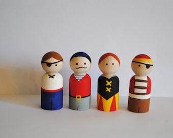 Pirate Peg Doll Set