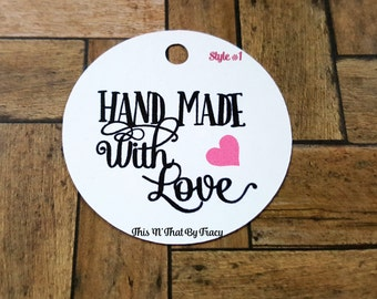 Handmade With Love Tags, Handmade Tags, Thank you tags,Gift Tags TG-001